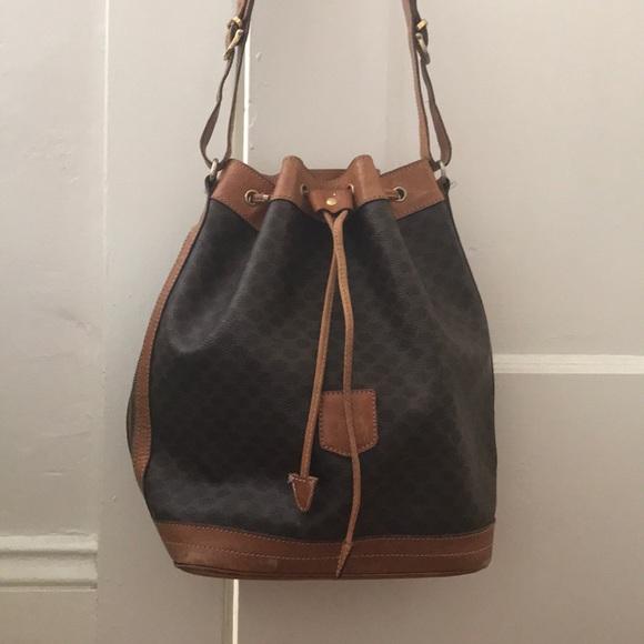 Celine Handbags - Vintage Celine Macadam bucket bag! 0bb376ff26e8c